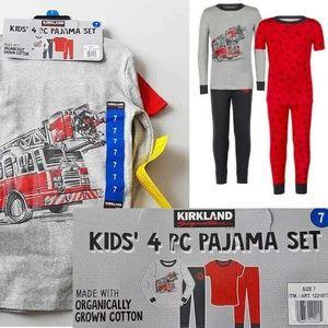 Kirkland Signature Boys 4-Piece Pajama Set
